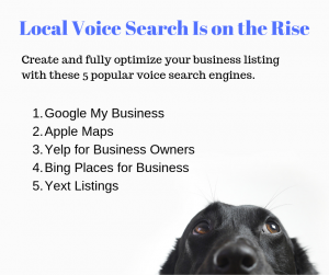 Local Voice Search - 6 Local SEO Trends for Pet Sitters and Dog Walkers