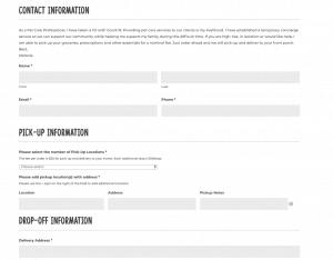 concierge order form